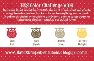 HSS color challenge - Real Red, Soft Suede, Crumb Cake, Daffodil Delight