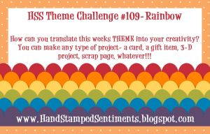 Hand Stamped Sentiments Stampin Up Rainbow Challenge