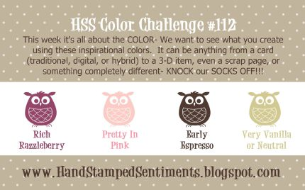 Stampin up color challenge