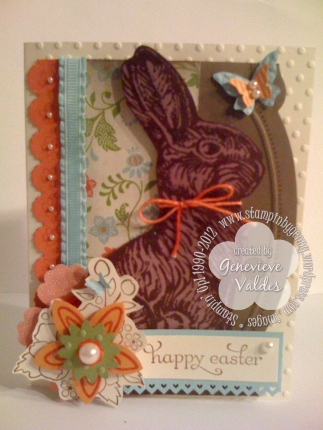 Stampin' Up! Chocolate bunny card
