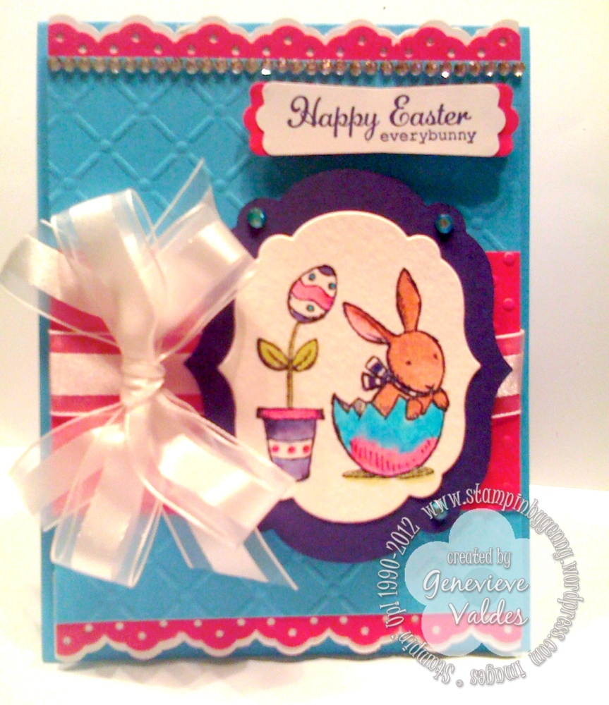 Everybunny Easter Watercolor Card (1/2)