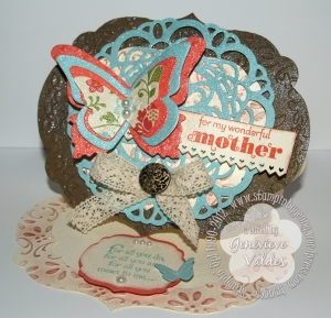 Stampin' UP! Labels Framelit Easel Card