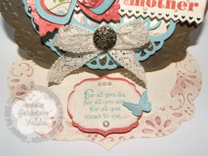 Close up of Stampin' Up! Mother's Day Easel cArd