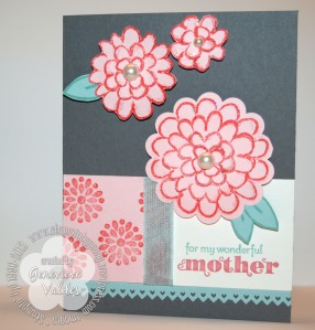 Stampin up Flower Fest mother's day card