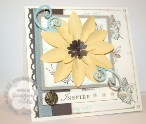 Stampin Up sunflower card