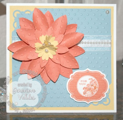 Blossom Petals Punch flower card