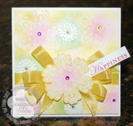 Mixed bunch stampin up emboss resist card