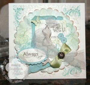Established Elegance Vintage wedding card