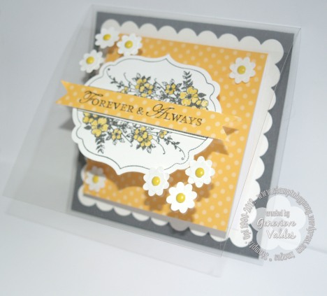 Stampin Up window sheet Forever and Always Wedding card