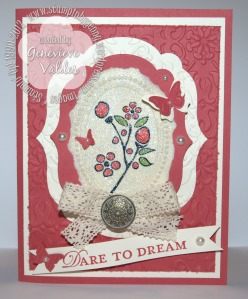Stampin' Up! Dazzling Diamond Dust Bordering Romance stamp set