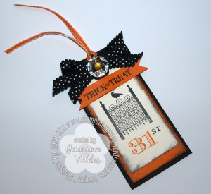 Halloween Stampin' Up! toxic treat tag