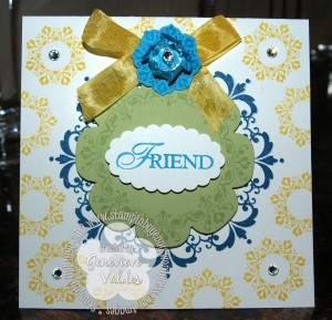 Stampin' Up! Daydream Medallion Friend card