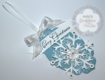 Stampin' Up! Snow Flake Christmas Tag