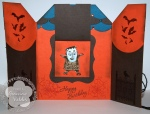 Stampin' Up! haunted house gate fold card