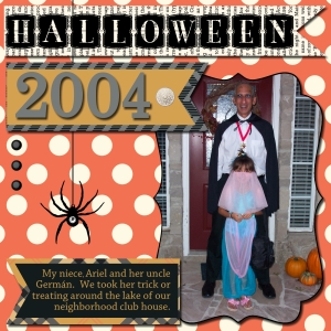 Stampin' Up! Halloween scrap book page