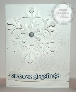 Stampin' Up! Snowflake Holiday Stamp Camp project 2012