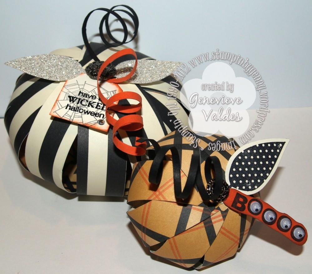 Halloween paper pumpkins and tutorial (1/6)