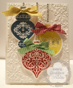 Stampin' Up! Ornament Keepsakes Christmas card