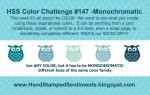 Monochromatic challenge