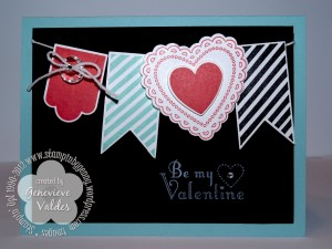 Stampin' Up! Hearts a Flutter Valentine's card