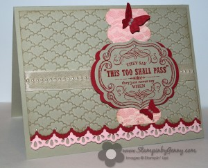 Stampin' Up! edgelits and framelits card