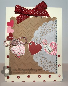 Stampin' Up! tag valentine's day card