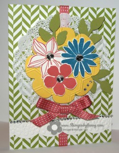 Stampin' Up! flower garden card