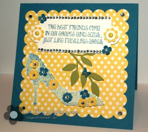 Stampin' Up! Fabulous You spring shoe card