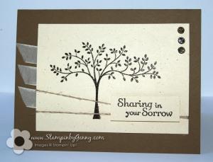 Stampin' Up! sympathy card