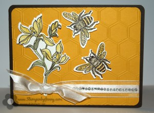 Stampin' Up!  Honey bee Honey Comb card