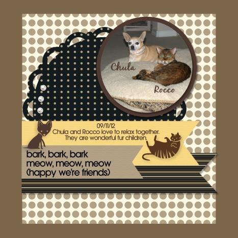 Stampin' Up! My Digital Studio pet scrap book page
