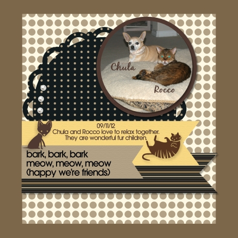 Stampin' Up! My Digital Studio pet scrap book page