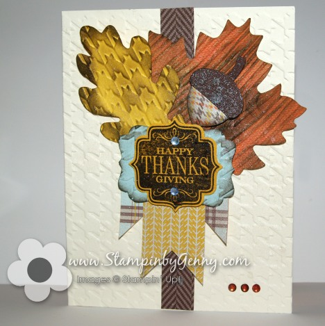 Stampin' Up! wonderfall leaves and sweater weather dsp