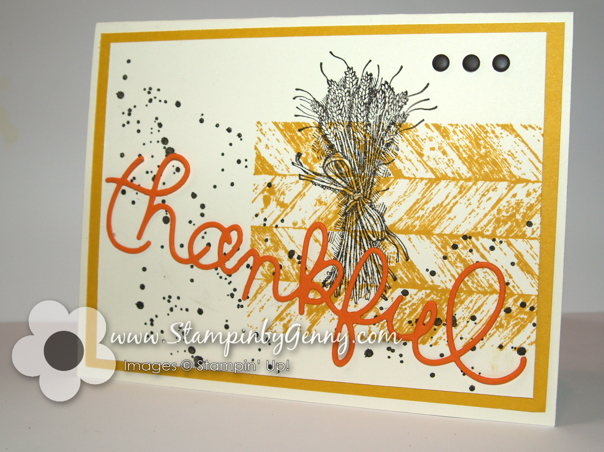 Truly grateful 187 stampin up thanksgiving card