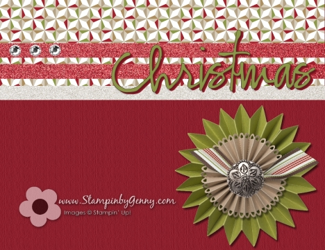 Stampin' Up My Digital Studio Christmas card