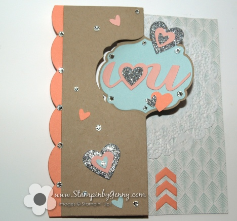 Stampin' Up! thinlits label card