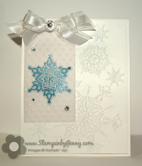 Stampin' Up! Festive Flurry Christmas card