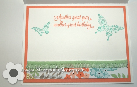 Stampin Up Another Great Year birthday card