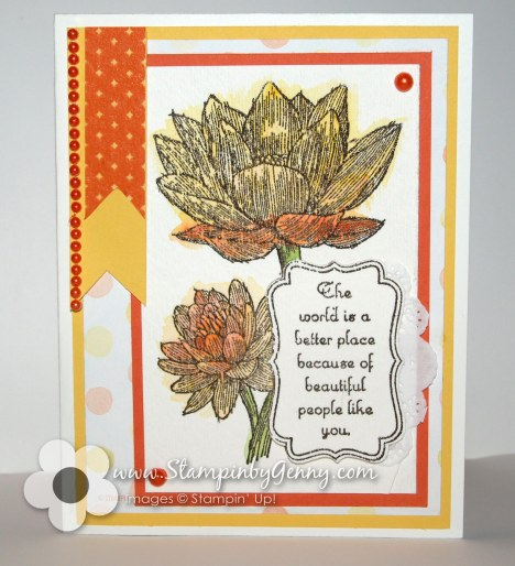 People Like You watercolor Stampin Up card
