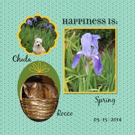 "My Digital Studio 8"" x 8"" spring pets page"