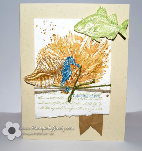 Stampin' Up! Thinking of You seashell card
