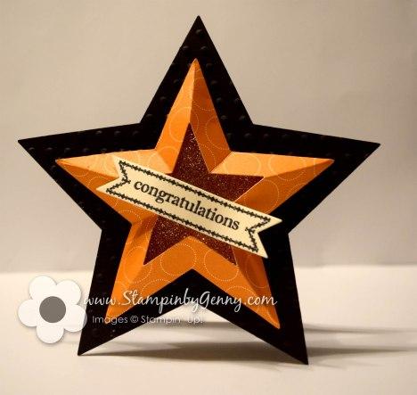 Star Framelits graduation card