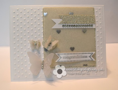 Stampin' Up! hearts and butterflies congratulations card