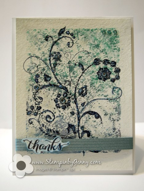 Stampin' Up! watercolor thank you card