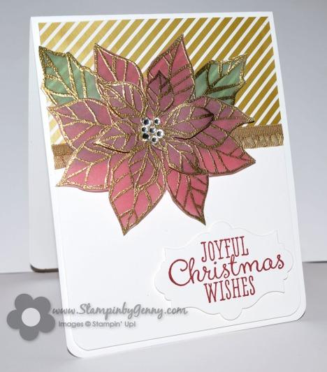 Joyful Christmas poinsettia card