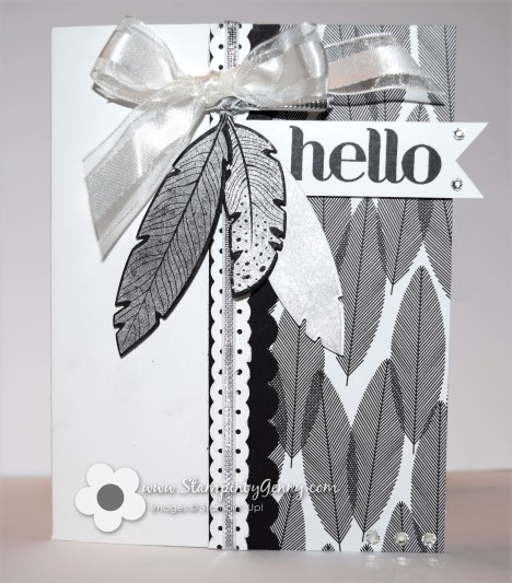 Stampin' Up! Fine Feathers Hello card