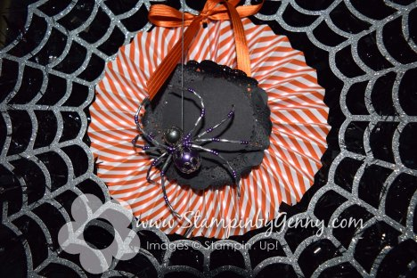Stampin Up Halloween Frightful Wreth