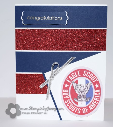 Stampin Up Congratulations Eagle Scout card
