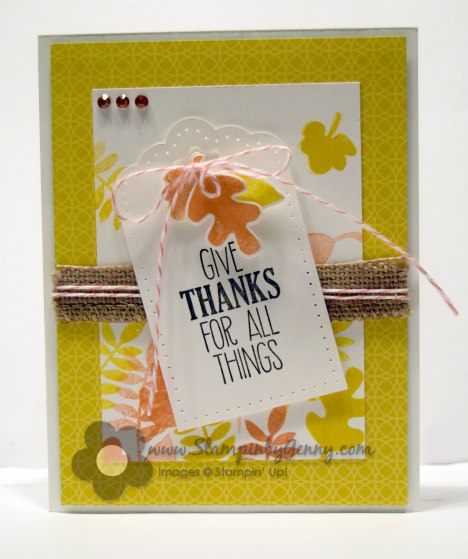 Stampin Up Thanksgiving Fall Fest card
