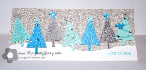 Stampin Up Festival of Trees Christmas card